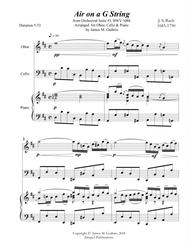 Download Bach: Air On A G String For Oboe, Cello & Piano