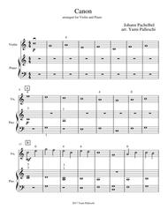 Download Canon Pachelbel Easy Violin Piano Duet Sheet Music By