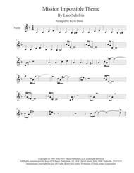 Mission: Impossible Theme  from the Paramount Television Series MISSION: IMPOSSIBLE - Violin