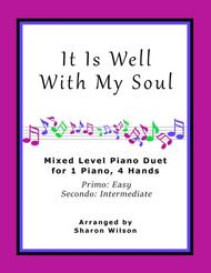 It Is Well with My Soul (Easy Piano Duet; 1 Piano, 4 Hands)