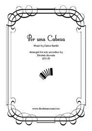 Por una Cabeza for solo accordion