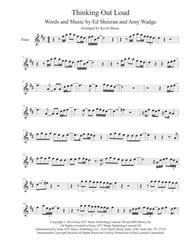 Download Thinking Out Loud Original Key Flute Sheet