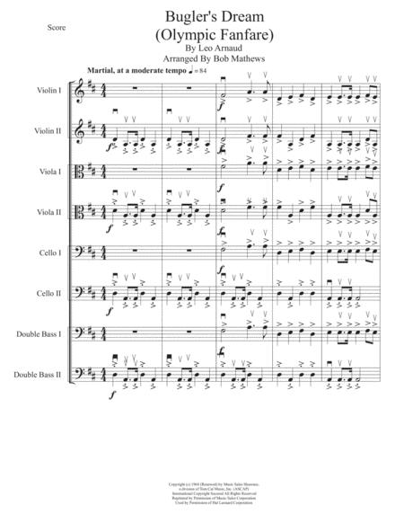 Bugler's Dream (Olympic Fanfare) Melody and Harmony for all strings
