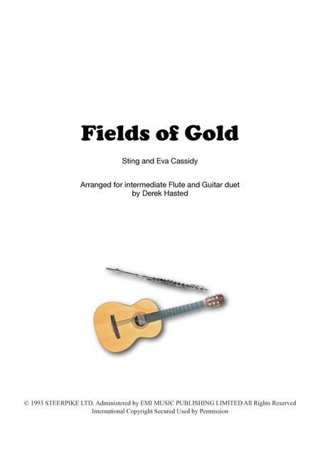 Fields Of Gold for Guitar Quartet & Flute/Melody instrument
