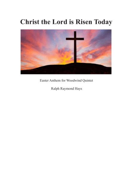 Christ the Lord is Risen Today (for woodwind quintet)