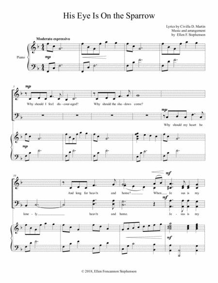 His Eye Is On the Sparrow (SATB)