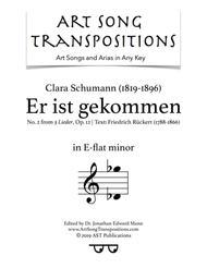 Er ist gekommen, Op. 12 no. 2 (E-flat minor)