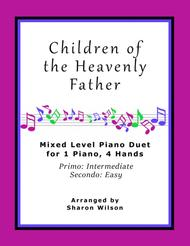 Children of the Heavenly Father (Easy Piano Duet; 1 Piano, 4-Hands)