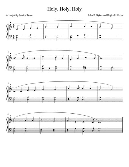 Holy, Holy, Holy-- easy piano
