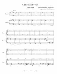 A Thousand Years: Piano Duet