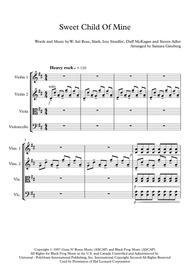Sweet Child O' Mine for String Quartet