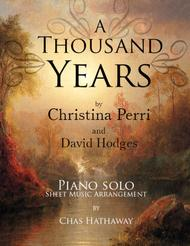 A Thousand Years: Piano Solo