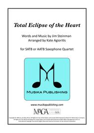 Total Eclipse Of The Heart - for Saxophone Quartet