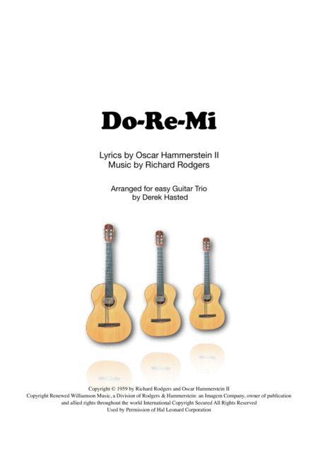Do-Re-Mi for easy Guitar Trio