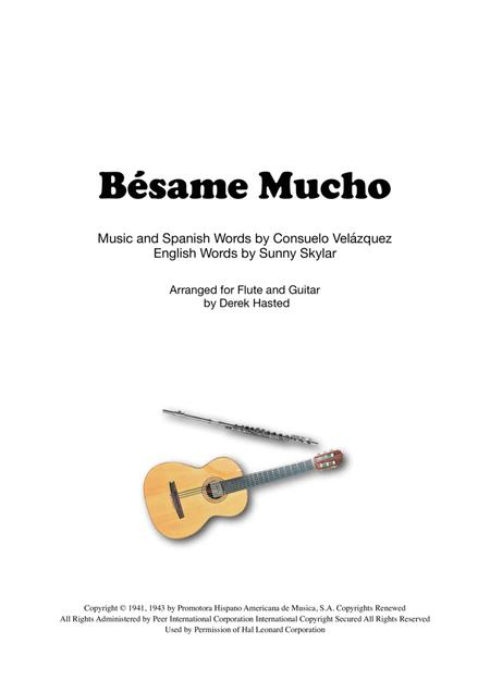 Besame Mucho for Flute and Guitar