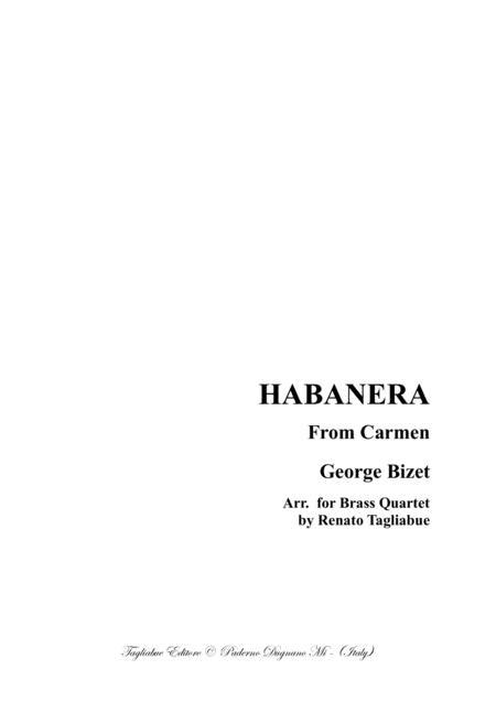 HABANERA - From Carmen  - For Brass Quartet