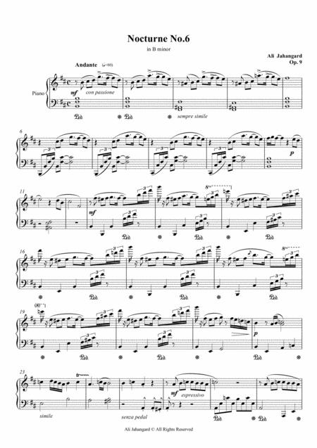Nocturne No.6 - in B minor, Op.9