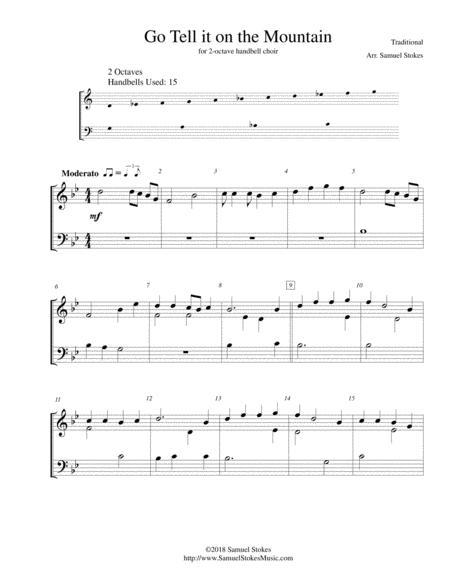 Go Tell it on the Mountain - 2-octave handbell choir