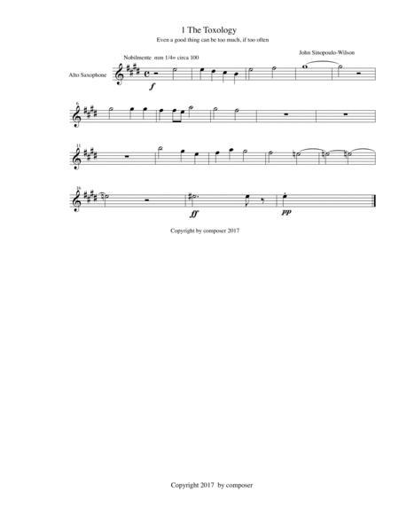 The Toxology/alto saxophone part