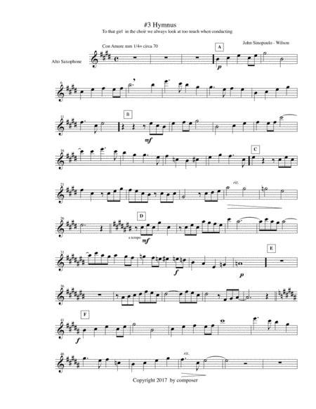 Hymnus #2 from Choir-loft Meditations alto saxophone part