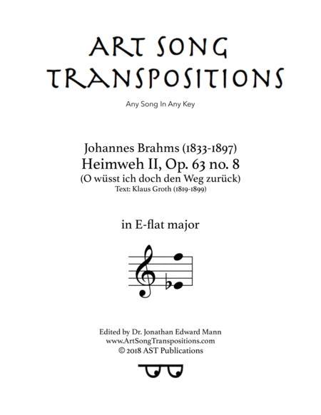 Heimweh II, Op. 63 no. 8 (E-flat major)