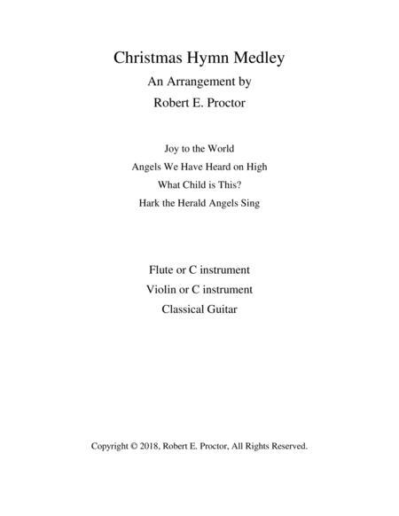 Christmas Hymn Medley for Flute, Violin and Guitar