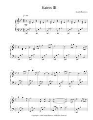 Kairos III by Joseph Burrows - Piano Solo