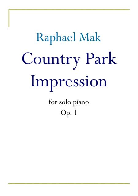 Country Park Impression, op. 1