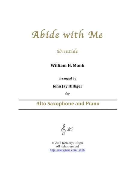 Abide with Me for Alto Saxophone and Piano