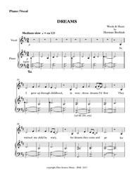 Dreams - piano/vocal