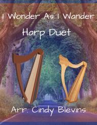 I Wonder As I Wander, arranged for Harp Duet