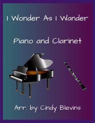 I Wonder As I Wander, arranged for Piano and Bb Clarinet