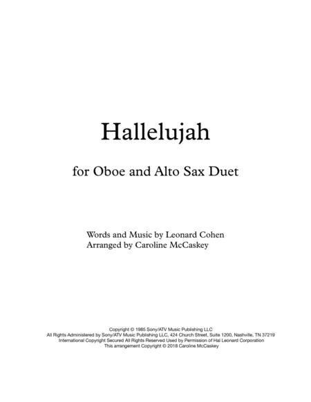 Hallelujah - Oboe and Alto Sax Duet