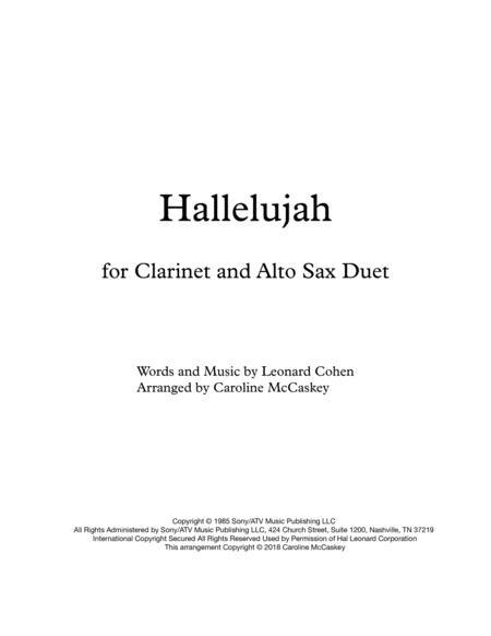 Hallelujah - Clarinet and Alto Sax Duet