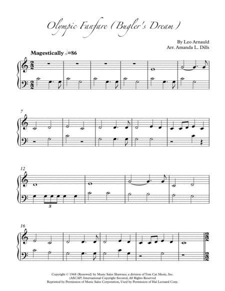 Bugler's Dream / Olympic Fanfare (Easy Piano)