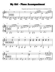 My Girl Piano Accompaniment Cheat Sheet