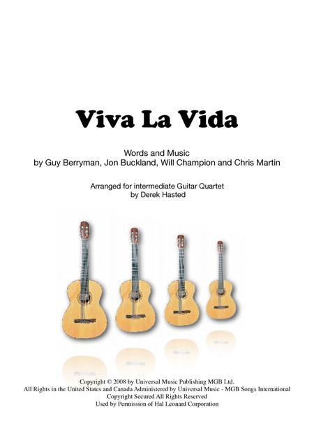 Viva La Vida - Guitar Quartet