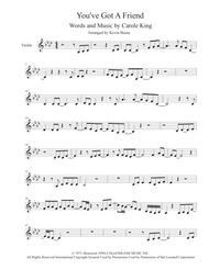 You've Got A Friend - Violin