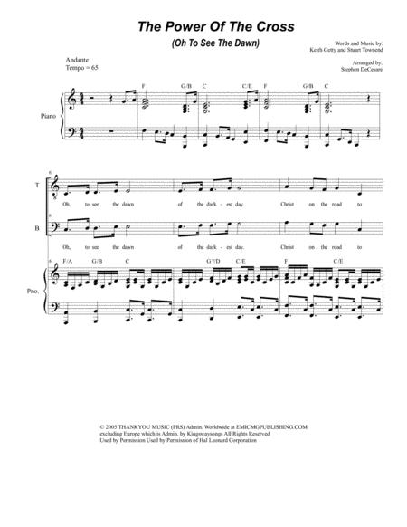 The Power Of The Cross (Oh To See The Dawn) (for Vocal Quartet - SATB)