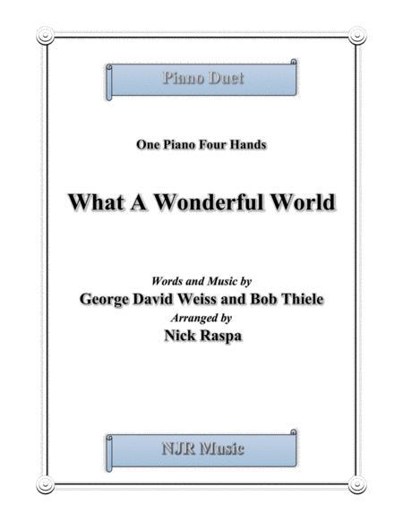 What A Wonderful World (1 piano 4 hands) advanced intermediate