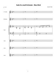 Suite for Small Orchestra - Blue Wind (Full Score)