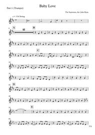 Baby Love, Wedding Band Arrangement (Horns + Rhythm)