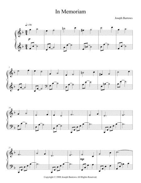In Memoriam by Joseph Burrows - Piano Solo