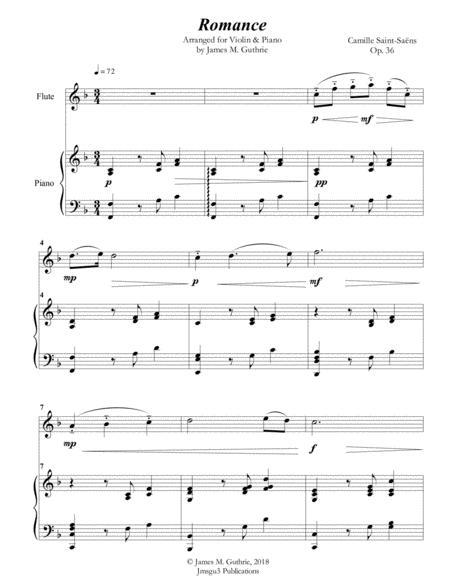Saint-Saens: Romance for Flute & Piano