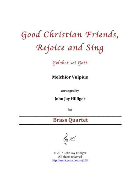Good Christian Friends, Rejoice and Sing (Brass Quartet)