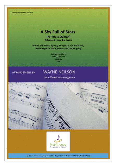 A Sky Full Of Stars for Brass Quintet