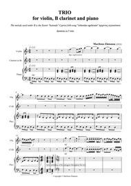 TRIO for violin, Clarinet in B and piano
