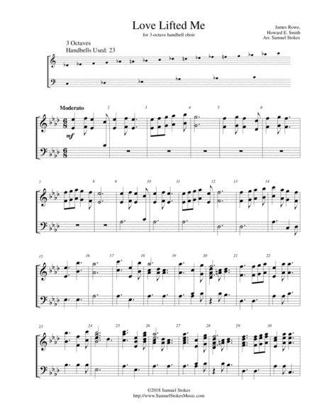 Love Lifted Me - for 3-octave handbell choir