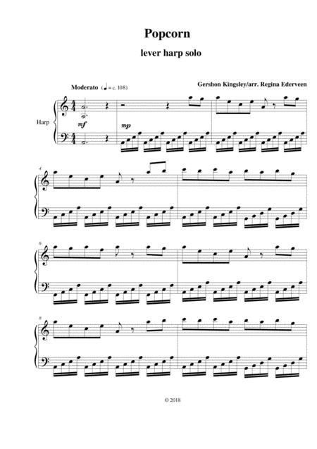 Popcorn - folk harp solo
