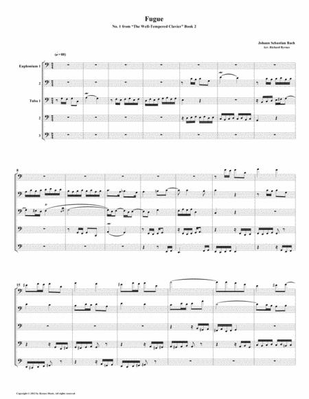 Fugue 01 from Well-Tempered Clavier, Book 2 (Euphonium-Tuba Quintet)